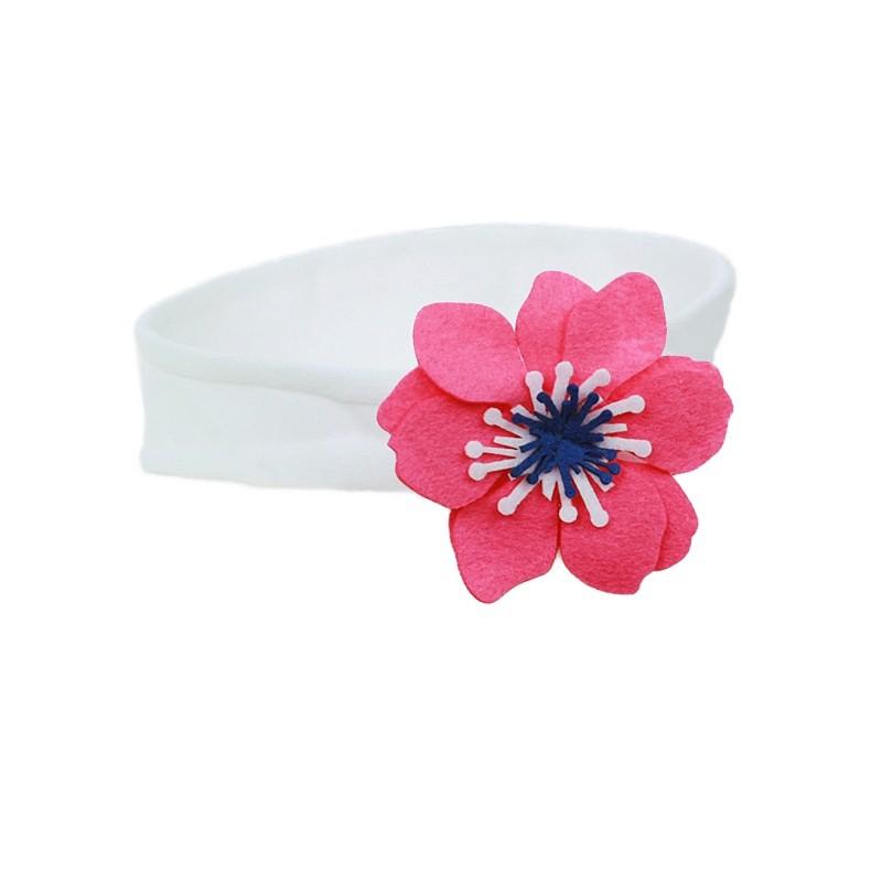 opaska kwiat ozdoba bawełna -pupill
