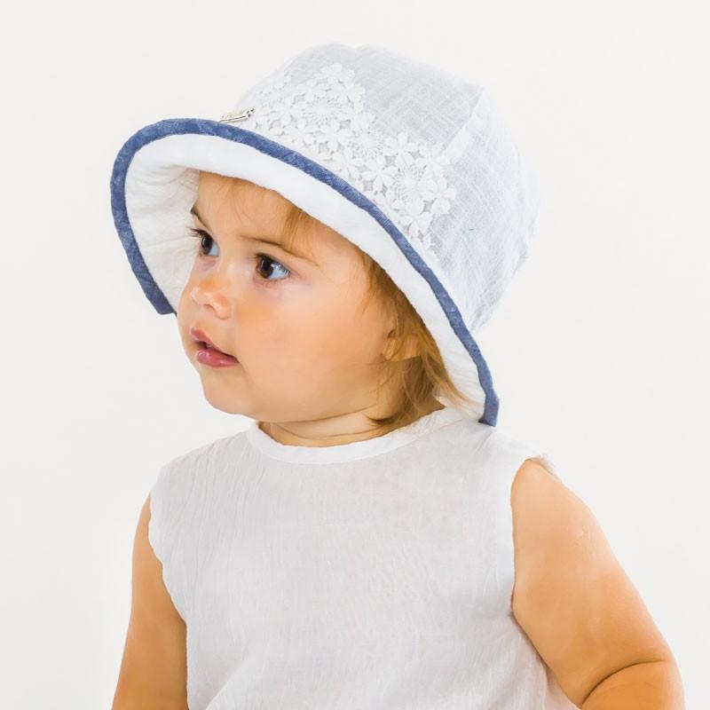 czapka czapeczka kapelusz koronka blaszka dziewczynka lato-pupill
