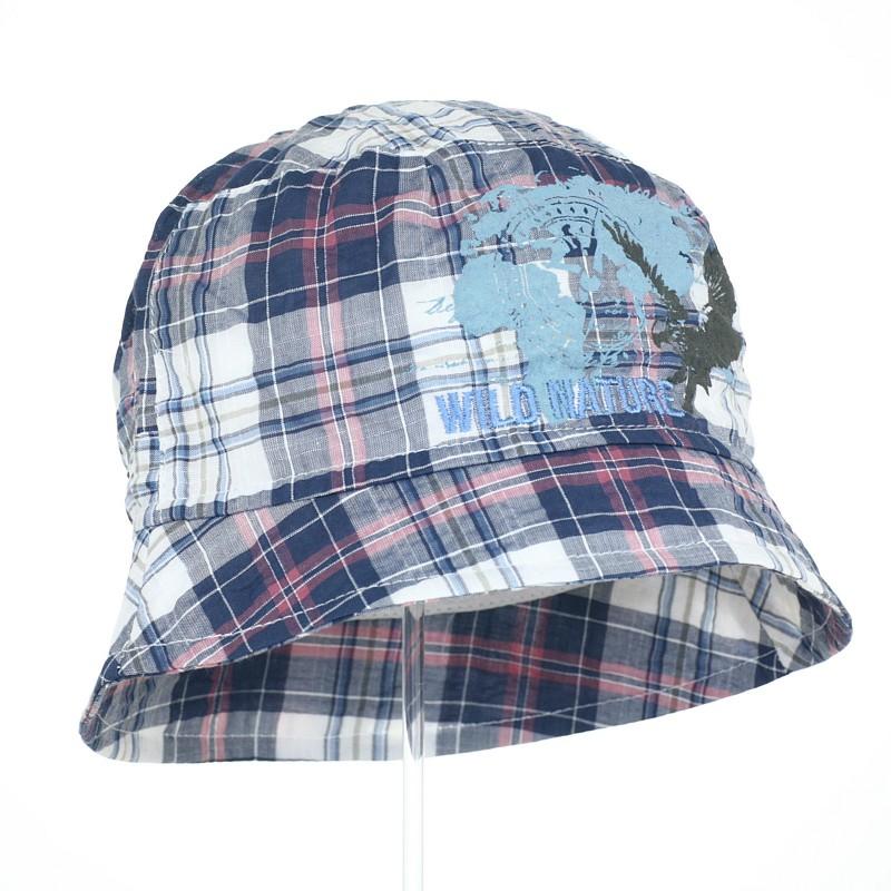 kapelusz czapka czapeczka na głowę kratka rondo chłopiec lato-pupill