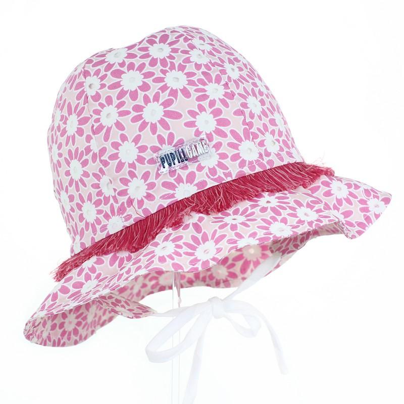 czapka czapeczka kapelusz kwiatki ochrona głowy dziewczynka lato pupill