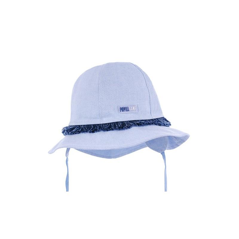czapka czapeczka kapelusz frędzle wiązanie rondo dziewczynka lato pupill