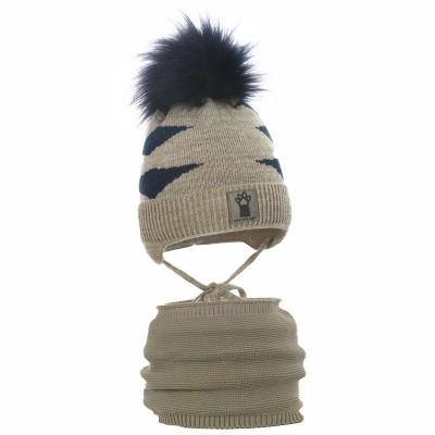 czapka czapeczka tygrys wiązanie naszywka aplikacja pompon-pupill