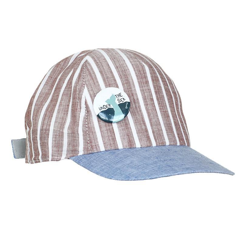 daszek paski regulacja przypinka moda pupill czapka dla chłopca