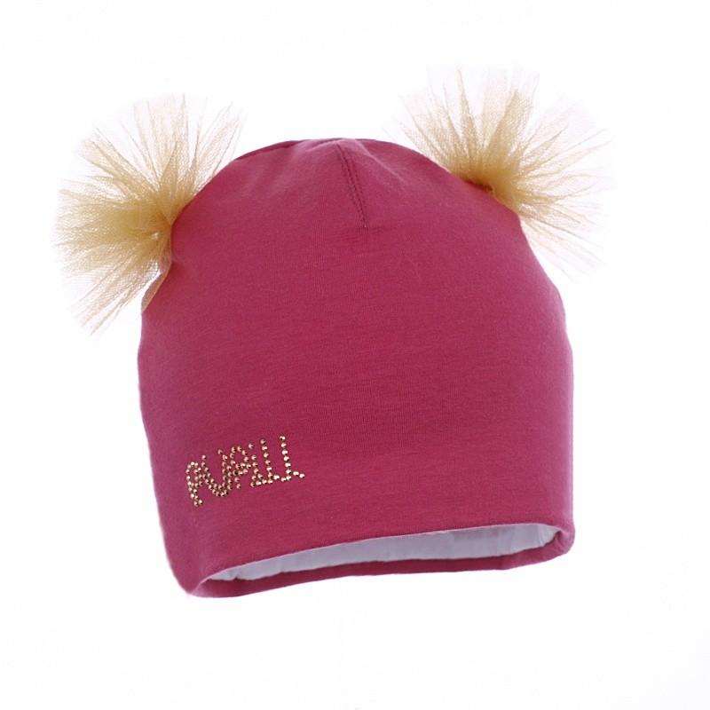 czapka czapeczka tiul dziewczynka jesień-pupill