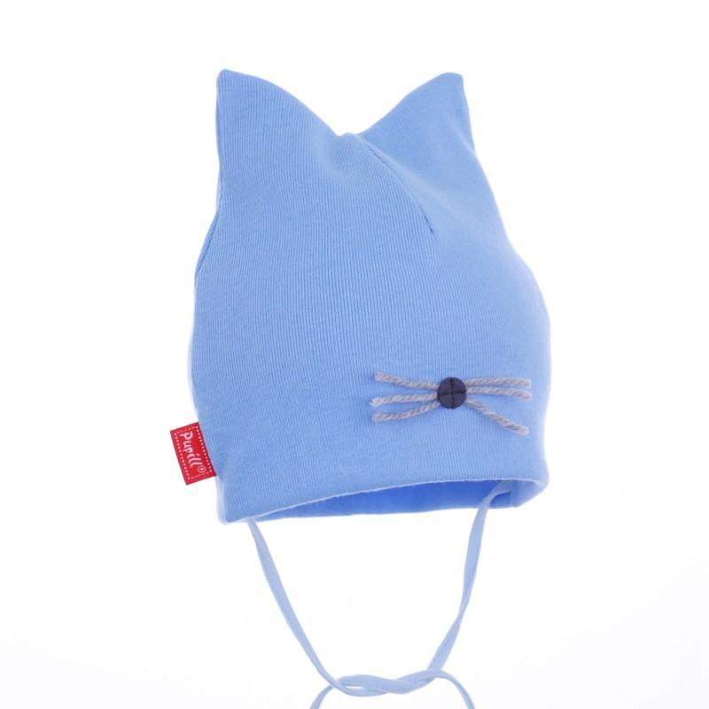 Śliczna czapeczka dla chłopca na jesień,wąsy-pupill