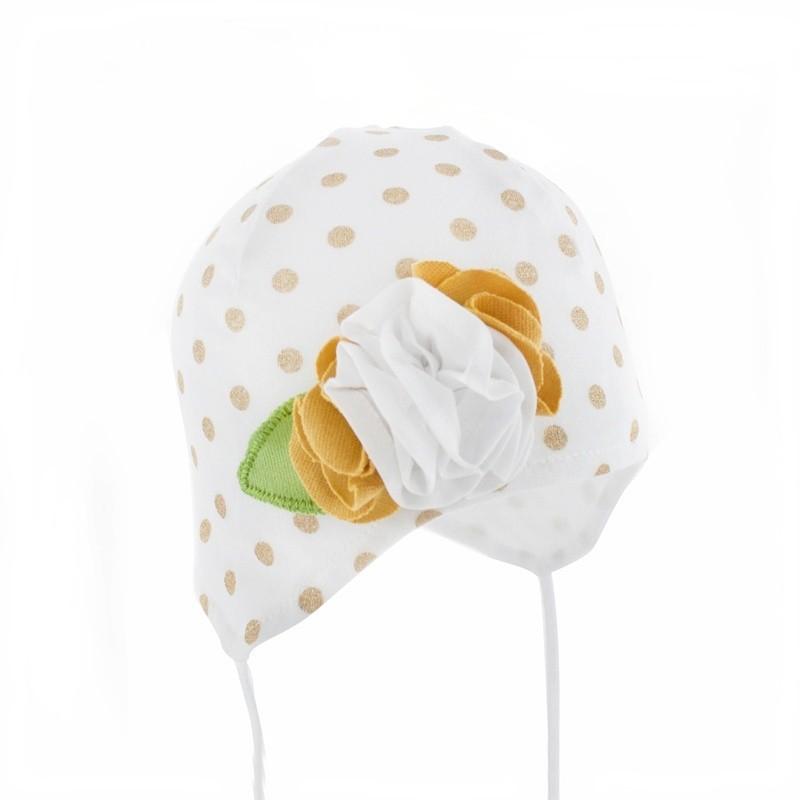 czapka,czapeczka dla dziewczynki na wiosnę,kwiaty-pupill