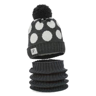 Dziana czapka czapeczka dla chłopca,dziewczynki na zimę,pompon wełna koło-Pupill